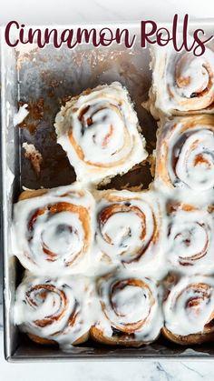 Best Cinnamon Rolls, Cinnamon Recipes, Baking Recipes, Dessert Recipes, Fall Baking, Cupcake Cakes, Cupcakes, Christmas Desserts, Coffee Cake