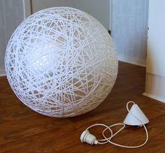 Miss Lacraft: DIY: lámpara colgante estilo Random light