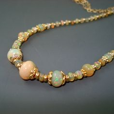 Hey, I found this really awesome Etsy listing at https://www.etsy.com/listing/247307206/opal-necklace-with-large-colorful
