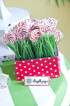 Hostess with the Mostess® - Ladybug indoor picnic - First birthday party. Great ideas