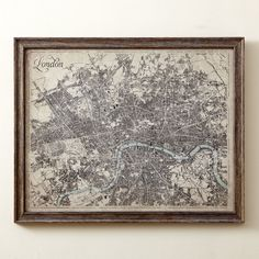 Heritage London Map Framed Giclee Print