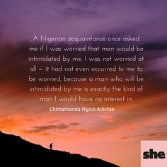 Chimamanda Ngozi Adichie feminism quote. We should all be feminists.