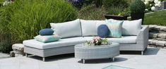 Outdoor Sectionals Available Exclusively From Pioneer Family Pools! Outdoor Sectionals, Outdoor Sofa, Outdoor Furniture, Outdoor Decor, Family Pool, Furniture Collection, Backyard Landscaping, Feng Shui, Pools