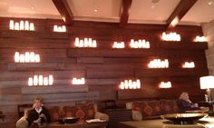 Candle wall at Omni in Fort Worth.