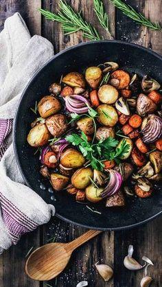 Potato Mushroom & Carrot Skillet