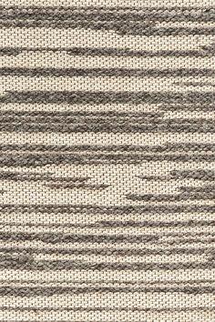 Rake wool & linen rug in Stone colorway, by Merida.