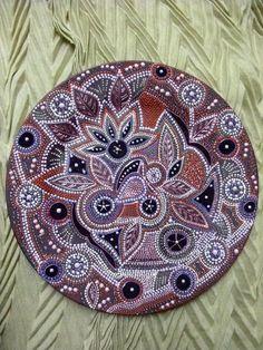 Hand painted mandala style decorative plate by ElenaPrikhodkoKnapp, $250.00