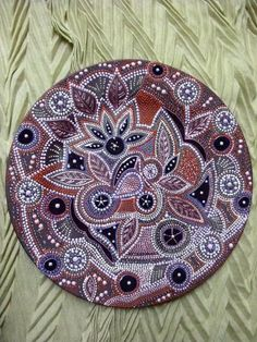 Hand painted mandala style decorative plate by ElenaPrikhodkoKnapp, $250.00