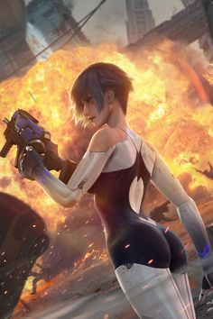Video Game/Cyber Hunter Wallpaper ID: 805146 - Mobile Abyss Arte Cyberpunk, Cyberpunk Girl, Chica Fantasy, Fantasy Girl, Female Cyborg, Female Art, Fantasy Character Design, Character Art, Girl Cartoon