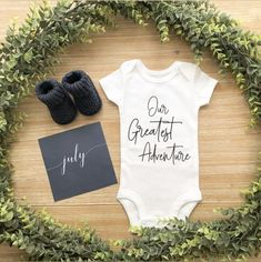 Day Pregnancy Announcement Ideas Etsy Our Greatest Adventure - B . Pregnancy Announcement Ideas Etsy Our Greatest Adventure – Baby Gift – Shower Gif Baby Announcement To Parents, Cute Baby Announcements, It's A Boy Announcement, Baby Announcement Pictures, Pregnancy Announcement Video, Grandparent Pregnancy Announcement, Happy Pregnancy, Pregnancy Test, Pregnancy Belly