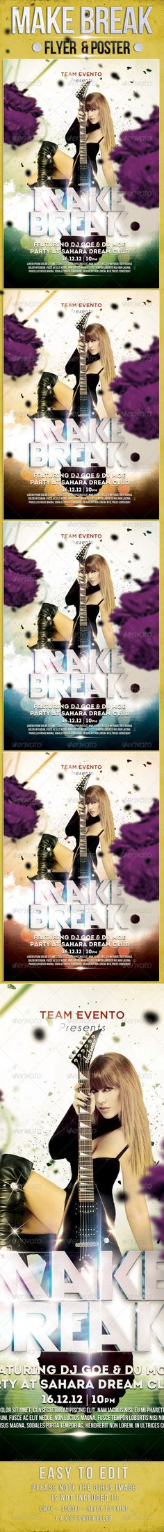 Make Break Party Flyer Template