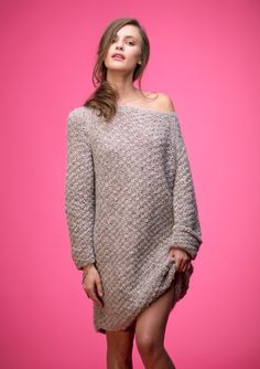 Lang genser Knit Dress, Tweed, Knitting, Skirts, Sweaters, Dresses, Fashion, Threading, Tricot