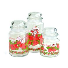 Strawberry Shortcake canisters- 1980