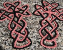 Celtic Cross Bookmark Crochet .PDF pattern. Design by Patricia Kristoffersen; Christian Faith; Bible Bookmark; 100% donated to Charity