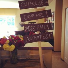 Camping theme birthday party