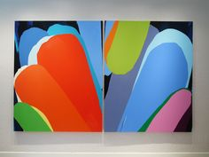 Colorful  diptych by William Engel