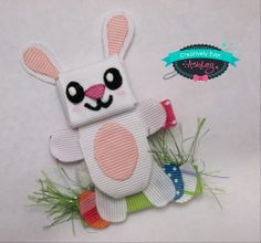 Easter bunny with eggs and grass hair clip