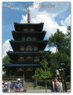 Epcot Japan Pavilion and Mitsukoshi Department Store at Walt Disney World Disney World Theme Parks, Disney World Resorts, Walt Disney World, Epcot Japan, Department Store, Pavilion, Around The Worlds, Places, Sheds