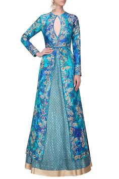 IBFW Collection presents Blue tie and jacket with block print Lehenga skirt available only at Pernia's Pop Up Shop. Modest Fashion Hijab, Skirt Fashion, Fashion Dresses, Lehenga Skirt, Anarkali, Kurti Skirt, Indian Wedding Outfits, Indian Outfits, Kurta Designs