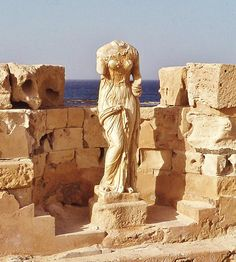 Sabratha, photograph from 1975 Persian Architecture, Classical Architecture, Ancient Architecture, Benghazi Libya, Classical Antiquity, Phoenician, Ancient Romans, North Africa, Ancient Civilizations