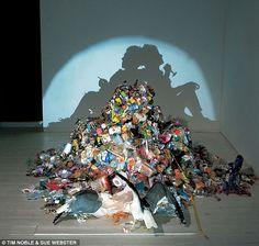 Junky shadow art.