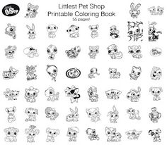 Littlest Pet Shop - Free Printable Coloring Book, 55 pages!