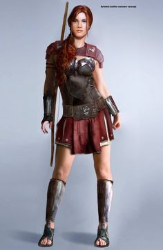 Woman. roman gladiator