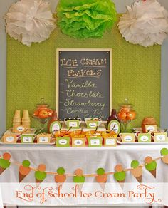 Ice cream bar! Perfect for wedding, shower, birthday party, etc!!