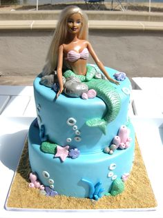 For my 7th birthday definitely had a barbie cake just like this, just was princess instead of mermaid. Childhood achieved.