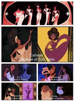 Disney misses nothing!!! But, I have to point out that in mythology Thalia wasn't a muse. She was a grace.