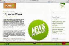 Plank Website 2012 - Hi, we're Plank