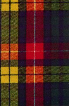 The Buchanan tartan - it's not our tartan, but it's going to be our curtains & area rug in the Scottish room anyway ;-)