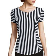 jcp | Alyx® Short-Sleeve Striped Suiting Top