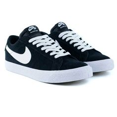 super popular f4fc6 bf7a2 Nike Sb Blazer Low Black White Skate Shoes