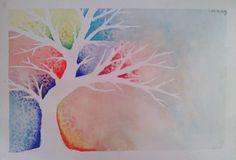 Custom Elegant Tree Pastel and Watercolor by HartungDesignsCo