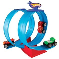 $19.99 - Hot Wheels cars speed past limits. Don?t get a ticket!• This Super Loop Action Set lets kids stage gravity-defying stunts using the fast action and magnetic powers of Rev Ups vehicles.• Rev Ups car zooms forward when pulled back.• Magnetic wheels let the car defy gravity by climbing metal surfaces.• Base holds the track in one giant loop or two smaller ones.• Set includes: track, base & Rev Ups car.• 10H x 12W x 2.5D (packaged).• Easy assembly required.