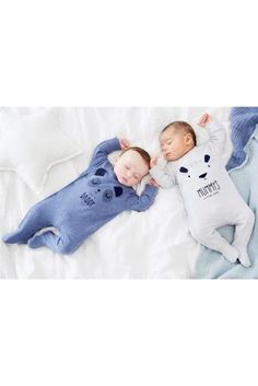 87f1a54bc4d Buy Grey Blue Character Mummy And Daddy Sleepsuits Two Pack from Next  United Arab Emirates. Jackie Morris · Baby