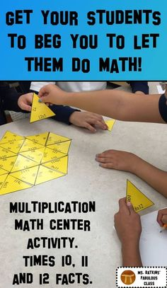 30 multiplication problems in a fun self checking math center.