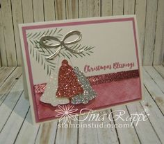 Fancy Frost Specialty Designer Series paper,Stampin' Up! Christmas Pines Stamp Set, Glimmer Paper,