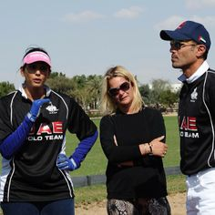Listening to Sheikha Maitha Bint Mohammed @mmrm1 patron of the UAE Polo Team during the practice game today talking about the opening game of the Cartier Challenge.....mkhabtoor