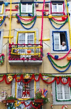Folks festival, bringing even more color to the streets of Portugal Spain And Portugal, Portugal Travel, San Antonio, Portuguese Culture, Iberian Peninsula, Azores, Most Beautiful Cities, World, Places