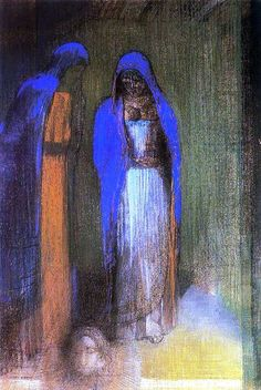 Odilon Redon - Salome, c. 1893. Drawing - Pastel. Kunsthalle Bremen, Germany