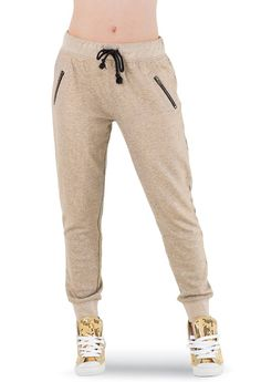 Metallic Sweat Pants - Urban Groove - Product no longer available for purchase Jogger Pants, Joggers, Sweatpants, Tailgate Outfit, Dance Wear Solutions, Dance Shorts, Dance Fashion, Short Skirts, Zipper