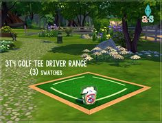 """(3) 3T4 Golf Tee Driver Ranges - Outdoor Clutter[[MORE]]Details: Decorations   Rugs Environment: 1§150Credit:Tool: Sims 4 Studio (JOY) 2.5.0.3 I can't began to tell you how much I love this update. It's the best one ever. ♥♥♥Mesh: EACatalog Organization:Artist Tag """"ajOya""""Color TaggedDesign Tool CompatibleThumbnailDownload (Orangedox)"""