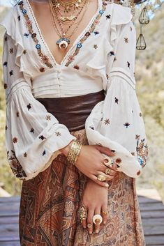 6a4a8cd3a8476 NWT Free People Saachi Smocked Top Embroidered Off Shoulder Shirt ...