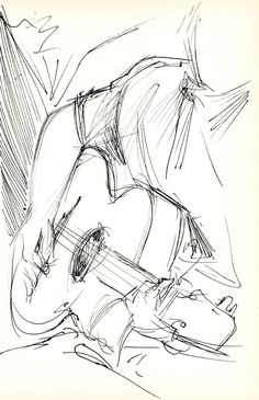 Guitarist - Original Pen & Ink Sketch - Archivally Matted and Mounted for Standard Frame Guitarist - original pen & ink sketch on lightweig. Guitarist - Original Pen & Ink Sketch - Archivally Matted and Mounted for Standard Art Drawings Sketches, Realistic Drawings, Easy Drawings, Pencil Drawings, Sketches Of Eyes, Tumblr Sketches, Simple Sketches, Cool Sketches, Creative Sketches