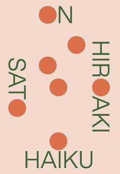 Hiroaki Sato, On Haiku, design by Boyang Xia / Rodrigo Corral (New Directions) Magazine Design, Graphic Design Magazine, Japanese Graphic Design, Modern Graphic Design, Graphic Design Inspiration, Haiku, Cover Art, Buch Design, Design Design