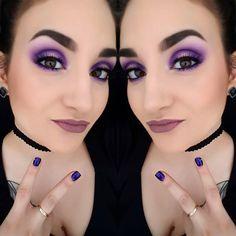 #maquillage #makeup #mua #coloré #smokeyeyes #eyes #look #love #purple #mauve #browneyes #