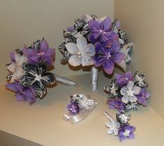 Origami Bridal Party Flower Set