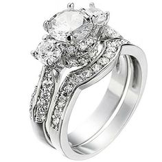 a181765d5fb5 Details about Wedding Band Engagement White Gold Ring Set For Women Size  5-11